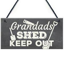 Grandads Shed Workshop Garage Hanging Garden Plaque Gifts For Grandad Dad
