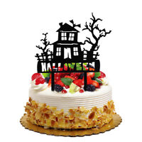 Halloween Theme Cake Toppers Horror Cupcake Toppers Halloween Party Baking Decor