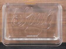 NEW! Vintage Hallmark Black Soap Dish. Clear. Made In U.S.A.