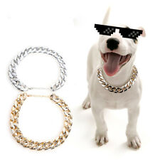 Dog Collar Pet Necklace Jewelry Accessories Pendant Puppy Cat Chain Gold/Sliver