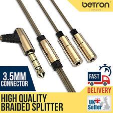 Betron Earphones Splitter 3.5 mm Dual Jack Stereo Earphones Headphones Adapter