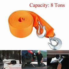 """3"""" x 20' Heavy Duty Recovery Winch Tow Strap Hooks Car Straps 8 Tons For Car"""