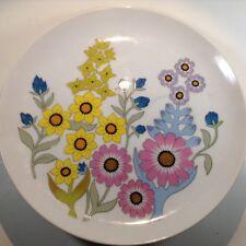 "Set of 3 Vintage Fine China Dolphin Delphi Floral Saucers/ Dessert Plates ~8"""