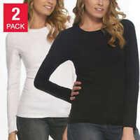 New! 2 Pack Felina Women's  Long Sleeve Modal T-Shirt | A6
