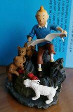 EXTRÊMEMENT RARE! tintin et milou assis avec Teddy Bears Figurine Statue Hergé
