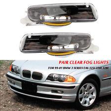 2x Fog Lights Driving Lamps For 99-01 BMW 3 Series E46 325i 330i 328i 4D