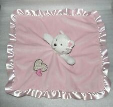 Carter's PINK KITTY CAT Rattle BABY SECURITY BLANKET Lovey Leopard Heart Carters