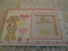 """ mum "" photo frame by button corner"