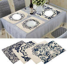 Placemats Cotton Linen Dining Room Table Mat Heat Insulation Pad China Pattern