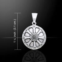 Viking Shield .925 Sterling Silver Pendant by Peter Stone Jewelry
