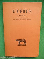 CICERON DISCOURS TIII SECONDE ACTION CONTRE VERRES BUDE BELLES LETTRES