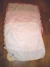 Three Vintage Dresser Scarves or Handkerchiefs