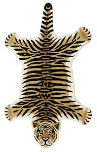 Rug USA New Tiger Shape 3'0''x5'0'' ft Handmade Tufted 100% woolen Area Rugs Mat