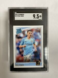 2018-19 Donruss PHIL FODEN Rated Rookie #179 Manchester City SGC 9.5