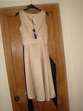 bnwt next signature size 12 party evening dress £50 2 belts beige gold stunning