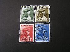 Norway, Scott # B43-B46(4), Complete Set Semi-Postal Crown Prince Olaf 1946 Used