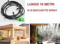Tubo 10m acqua spray Misting vaporizzatore umidificatore vapore relax solarium