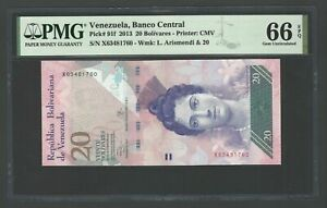 Venezuela 20 Bolivares 2013 P91f Uncirculated Graded 66