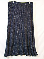 New Directions Womens Skirt Size XL X Large Modesty Navy White Stretch Maxi