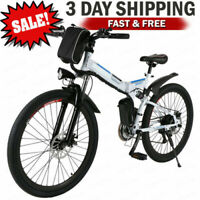 "26"" Electric Bike Mountain Bicycle 350W City EBike 21Speed W/ Removeable Battery"