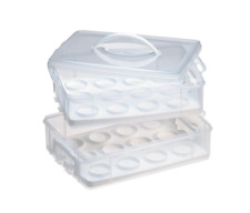 Snapware Snap N' Stack Cookie Cupcake Carrier Plastic Food Storage Container Box