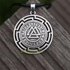 Viking Symbol Norse Thor Odin Pagan Celtic Rune Pendant Necklace