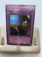 Yugioh TCG 1st Edition Trap Hole LOB-058 Lightly Played