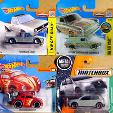 4 x VOLKSWAGEN CADDY SILBER BEETLE 69 SQUAREBACK GOLF GTI VW MATCHBOX HOT WHEELS