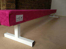 """Migliore Qualità Rosa Shocking GINNASTICA GYM BILANCIERE 8ft di lunghezza 12"""" alta rosa caldo"""