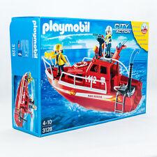 PLAYMOBIL 3128 City Action Grosses Feuerwehrboot mit Pumpe NEU / OVP