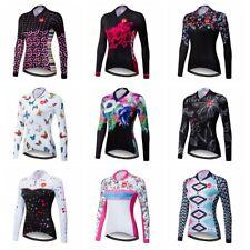 Women Cycling Jersey Bicycle Racing Bike Long Sleeve Clothing Sport Wear Tops