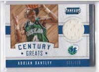 2015-16 Adrian Dantley #/199 Jersey Panini Threads Mavericks Century Greats