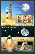 UMM AL QIWAIN 1971 APOLLO 15 - SPACE ASTRONAUTS SHEETS!