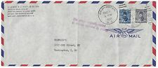 EGYPT US 1950 NAVY FRANKED KING FAROUK ISSUES VIA DIPLOMATIC POUCH CANCELLED WAS