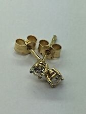 18ct Yellow Gold Diamond Stud Earrings - 0.30ct