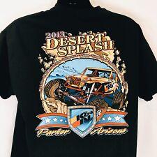 2013 Desert Splash Biker Jeep Graphic T Shirt Parker Arizona Size XL Mens Black