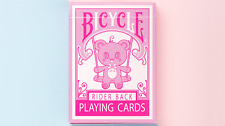 Lovely Bear Pink Bicycle Playing Cards Poker Size Deck USPCC Custom Limited New