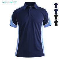 Men Polo Shirts Shorts Sleeve Rugby Golf T-Shirt Pullover Badminton Tennis Shirt