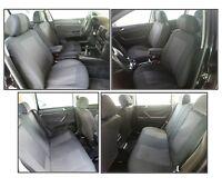 Luxus Sitzbezug Sitzbezüge Schonbezüge Schwarz Set für