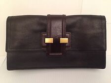 BANANA REPUBLIC Authentic 2-Tone Brown Leather Clutch/Purse NEW-Retail - $195+