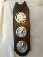 Vintage Verichron By Harris & Mallow American Eagle Wall Barometer Thermometer..