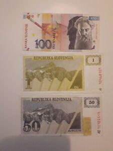 Papiergeld welt slowenien