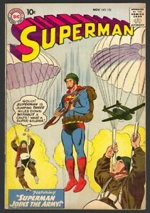 Superman #133 - Superman Joins The Army - Curt Swan Cover - DC (1959) FN/VF