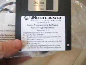 OEM Midland Radio Programming Kit w/ Cable n floppy disk for handheld  70-1483