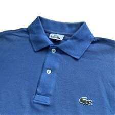Vintage Camisa Polo Lacoste | Talla 3 | Pequeño S | Azul Clásico Manga Corta
