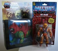 MOTU BATTLE CAT and HE-MAN  Bundle Retro play New For 20