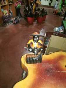 Hand Made Wooden fishing man beautiful home decoration