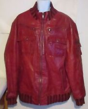 01daeffc2 Red Leather Flight/Bomber Coats & Jackets for Men for sale | eBay