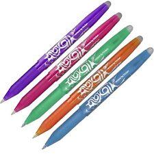 5 X Pilota Frixion Penne a sfera BL-FR7 - Arancione, luce blu, verde, viola, rosa