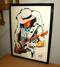 Stevie Ray Vaughan, SRV, Blues Guitar Player, Singer, 18x24 POSTER w/COA 1